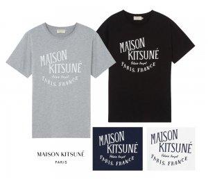 クリアランス/メゾンキツネ(MAISON KITSUNE)レディース&メンズ Tシャツ PALAIS ROYAL ロゴプリント/ホワイト、ネイビー、ブラック、グレー<img class='new_mark_img2' src='https://img.shop-pro.jp/img/new/icons16.gif' style='border:none;display:inline;margin:0px;padding:0px;width:auto;' />