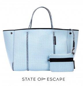 State of Escape(ステイトオブエスケープ)Baby Blue/ベビーブルー/ESCAPE BAG/トートバッグ ポーチ付き/ネオプレンバッグ/マザーズバッグ