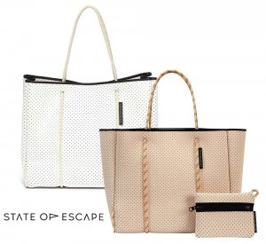 State of Escape(ステイトオブエスケープ)Blush/Ivory/アイボリー/ピンク/FLYING SOLO BAG/トートバッグ ポーチ付き/ネオプレンバッグ/マザーズバッグ