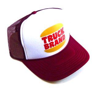 トラックブランド(Truck Brand)ハンバーガーショップ柄 Hungry メッシュキャップ/バーガンディー×ホワイト<img class='new_mark_img2' src='https://img.shop-pro.jp/img/new/icons16.gif' style='border:none;display:inline;margin:0px;padding:0px;width:auto;' />