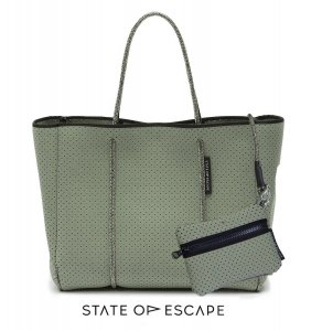 State of Escape(ステイトオブエスケープ)Sage Green/セージグリーン/FLYING SOLO BAG/トートバッグ ポーチ付き/ネオプレンバッグ/マザーズバッグ