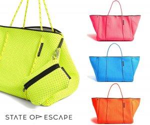 State of Escape(ステイトオブエスケープ)ビタミンカラー/ESCAPE BAG/トートバッグ ポーチ付き/ネオプレンバッグ/マザーズバッグ/ピンク,オレンジ,イエロー,ブルー