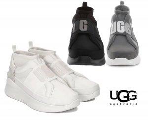 UGG(アグ)スニーカー/Neutra Trainer Sneaker/ニュートラ 厚底ソール スリッポンスニーカー レディース/ブラック、チャコールグレー、ホワイト<img class='new_mark_img2' src='https://img.shop-pro.jp/img/new/icons5.gif' style='border:none;display:inline;margin:0px;padding:0px;width:auto;' />