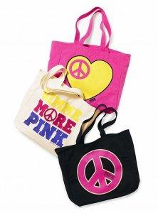 ヴィクトリアシークレットPINK(VictoriasSecretPINK)ラブ&ピーストートバッグ
