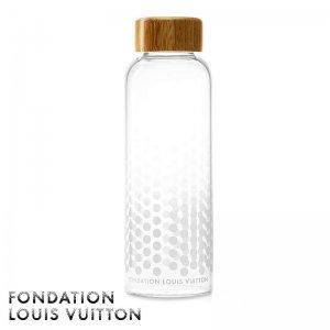 パリ限定!LOUIS VUITTON/ルイヴィトン美術館/ガラス製ウォーターボトル/500ml水筒/FONDATION LOUIS VUITTON