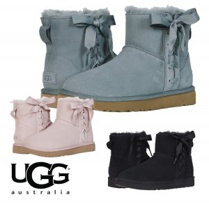 UGG(アグ)クラシック レース ミニ CLASSIC LACE MINI ムートンブーツ/リボン付きシープスキンブーツ/1103756<img class='new_mark_img2' src='//img.shop-pro.jp/img/new/icons16.gif' style='border:none;display:inline;margin:0px;padding:0px;width:auto;' />