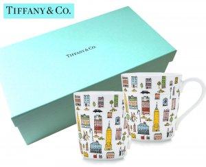 TIFFANY & CO(ティファニー)ティファニー 5TH アベニュー マグカップ2個セット/食器/紙袋付き