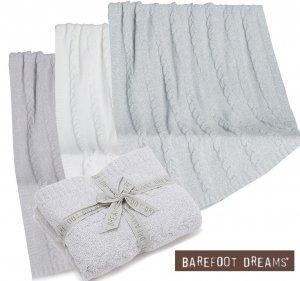 ベアフットドリームス(Barefoot Dreams)ケーブルニットブランケット/毛布/BDHCC1276 Heathered Cable Blanket<img class='new_mark_img2' src='https://img.shop-pro.jp/img/new/icons16.gif' style='border:none;display:inline;margin:0px;padding:0px;width:auto;' />