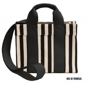 Rue De Verneuil(リュ ドゥ ヴェルヌイユ)2Wayミニトートバッグ/BabyTote/PALAIS ROYAL/STRIPES BLACK/ブラックストライプ<img class='new_mark_img2' src='//img.shop-pro.jp/img/new/icons16.gif' style='border:none;display:inline;margin:0px;padding:0px;width:auto;' />