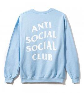 クリアランス/アンチソーシャルソーシャルクラブ(ANTI SOCIAL SOCIAL CLUB)スウェットトレーナー/スカイブルー ASSC Sky is Falling Crewneck