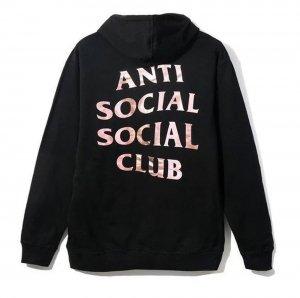 アンチソーシャルソーシャルクラブ(ANTI SOCIAL SOCIAL CLUB)スウェットパーカー/フーディー/メタリックブラック ASSC Stressed Hoodie