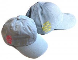 Anti Social Social Club (アンチ ソーシャル ソーシャル クラブ)デニムキャップ スカイブルー/イエロー、ピンク ASSC WEIRD CAP