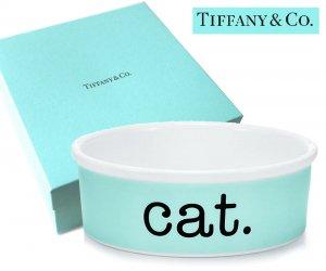 TIFFANY & CO(ティファニー)キャットボウル/猫の食器 皿/紙袋付き