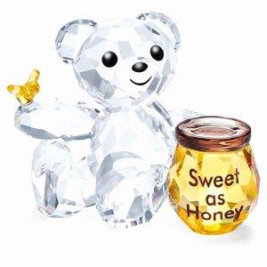スワロフスキー(SWAROVSKI)Krisベア Sweet as Honey/はちみつ/クリスタルオブジェ/Kris Bear/スワロフスキー社製置物<img class='new_mark_img2' src='https://img.shop-pro.jp/img/new/icons16.gif' style='border:none;display:inline;margin:0px;padding:0px;width:auto;' />