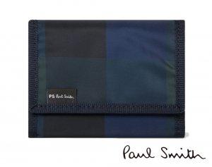 【2020年春夏入荷】ポールスミス(PAUL SMITH)チェックナイロン 三つ折り財布/コンパクト財布/PS by Paul Smith<img class='new_mark_img2' src='https://img.shop-pro.jp/img/new/icons16.gif' style='border:none;display:inline;margin:0px;padding:0px;width:auto;' />