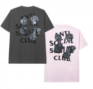 【2020年春夏新作】アンチソーシャルソーシャルクラブ(ANTI SOCIAL SOCIAL CLUB)Tシャツ ローズ 薔薇 グレー ピンク ASSC