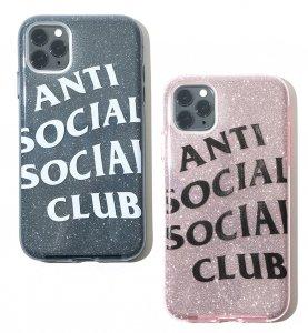 【2020年春夏新作】アンチソーシャルソーシャルクラブ(ANTI SOCIAL SOCIAL CLUB)iPhone11ケース ラメ グレー ピンク ASSC ソフトケース