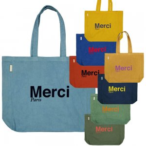 Merci Paris(メルシー パリ)エコバッグ トートバッグ オーガニックコットン パリ直輸入<img class='new_mark_img2' src='https://img.shop-pro.jp/img/new/icons5.gif' style='border:none;display:inline;margin:0px;padding:0px;width:auto;' />