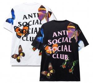 【2020年春夏新作】アンチソーシャルソーシャルクラブ(ANTI SOCIAL SOCIAL CLUB)Tシャツ バタフライ 蝶 ブラック ホワイト ASSC