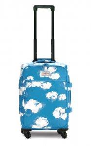 キャスキッドソン(Cath Kidston)キャリーカート トラベルキャリーバッグ キャスター付き旅行バッグ 青空柄