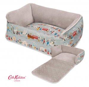 キャスキッドソン(Cath Kidston)ドッグベッド ペット用ベッド 犬猫用ソファーブランケット ロンドン柄 2way Blanket Bed London People