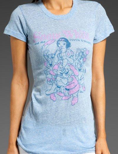 ジャンクフード(Junkfood)白雪姫と七人の小人Tシャツ/パウダーブルー