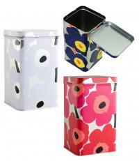 【3点セット】マリメッコ(marimekko)ウニッコ柄Tin缶3色セット/ビッグ(UNIKKO TIN BOX BIG)