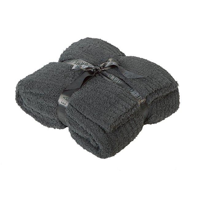 【クイーンキング】ベアフットドリームス Cozychicクイーンキングサイズブランケット/毛布(スレートブルー
