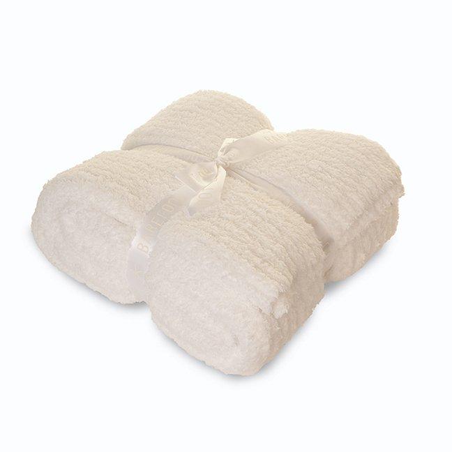 【クイーンキング】ベアフットドリームス Cozychicクイーンキングサイズブランケット/毛布(ホワイト)
