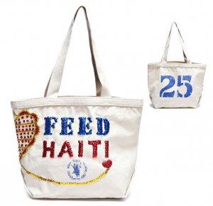 フィード(Feed)ハイチチャリティー スパンコールトートバッグ/FEED 25 Haiti Bag with Sequins<img class='new_mark_img2' src='https://img.shop-pro.jp/img/new/icons16.gif' style='border:none;display:inline;margin:0px;padding:0px;width:auto;' />