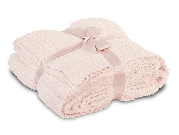 【クイーンキング】ベアフットドリームス Cozychicクイーンキングサイズブランケット/毛布(ピンク)
