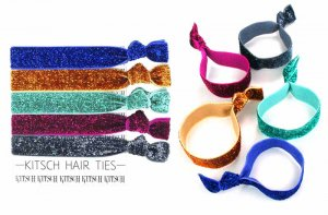 Kitsch(キッチュ)Bejeweled グリッターヘアアクセサリー5本セット/ヘアゴム/ブレスレット/Hair Ties<img class='new_mark_img2' src='https://img.shop-pro.jp/img/new/icons16.gif' style='border:none;display:inline;margin:0px;padding:0px;width:auto;' />