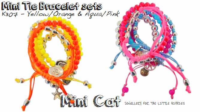 【キッズ用】ミニキャット(Mini Cat by Cat Hammill)5連ミニタイ ブレスレットセット