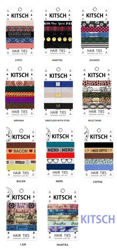 Kitsch(キッチュ)ヘアアクセサリー5本セット/ヘアゴム/ブレスレット/Hair Ties