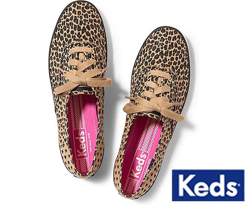 【タイムセール】ケッズ(Keds)レディーススニーカー/レオパードハート/アニマル柄(Leopard Heart)