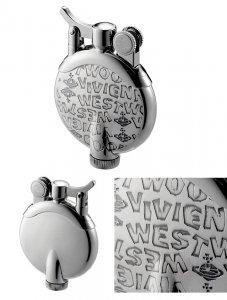 ヴィヴィアンウエストウッド ライター(Vivienne Westwood)ブラインドスタンプ柄タンク型オイルライター