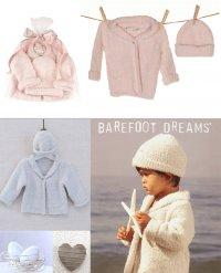 ベアフットドリームス(Barefoot Dreams)ベビーカーディガン&ハット2点セット/ピンク