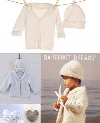 ベアフットドリームス(Barefoot Dreams)ベビーカーディガン&ハット2点セット/クリーム