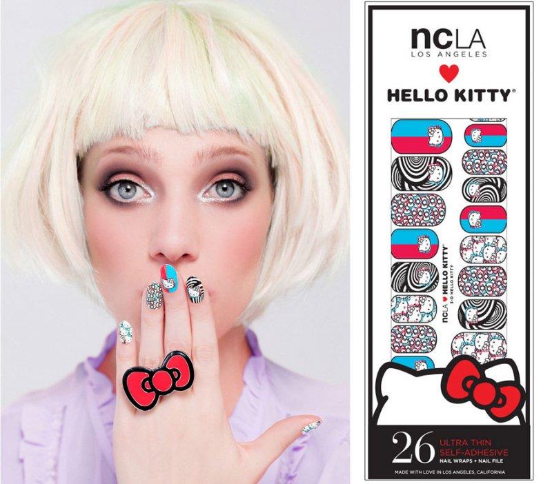 NCLA×ハローキティ(エヌシーエルエー)3D柄ネイルシール/Hello Kitty 3D/ネイルラップ/NAIL WRAPS/26本分
