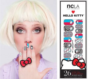 NCLA×ハローキティ(エヌシーエルエー)3D柄ネイルシール/Hello Kitty 3D/ネイルラップ/NAIL WRAPS/26本分<img class='new_mark_img2' src='//img.shop-pro.jp/img/new/icons16.gif' style='border:none;display:inline;margin:0px;padding:0px;width:auto;' />