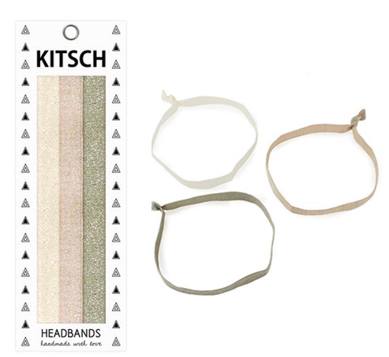 Kitsch(キッチュ)Prima Ballerinaラメ入りグリッターヘアバンド3本セット/ヘッドバンド/ヘアアクセ