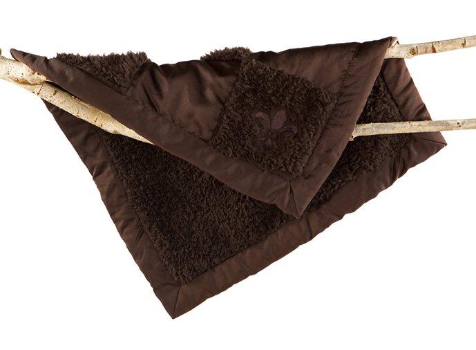 ベアフットドリームス パッチワークミニブランケット(エスプレッソ)/ベビーブランケット/ひざ掛け毛布