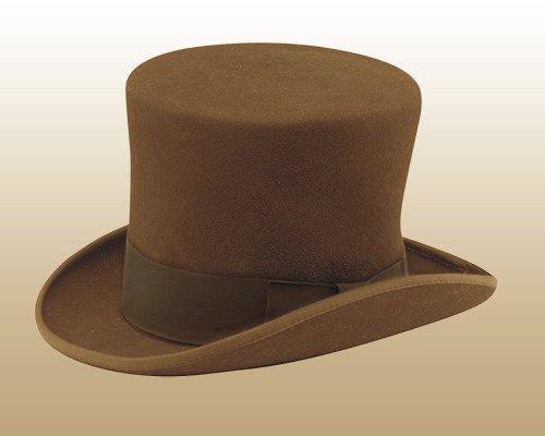 ニューヨークハット(New York Hat)マッドハッターハット/MAD HATTER/シルクハット(ブラウン)