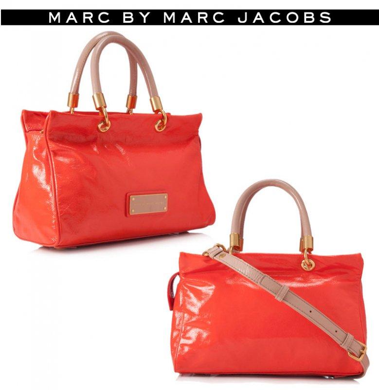 マークジェイコブス(Marc by Marc Jacobs)2Wayエナメルサッチェルバッグ/斜め掛け&ハンドバッグ