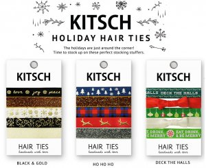 Kitsch(キッチュ) クリスマス限定ヘアアクセ5本セット/ヘアゴム/ブレスレット/Christmas Hair Ties<img class='new_mark_img2' src='https://img.shop-pro.jp/img/new/icons16.gif' style='border:none;display:inline;margin:0px;padding:0px;width:auto;' />
