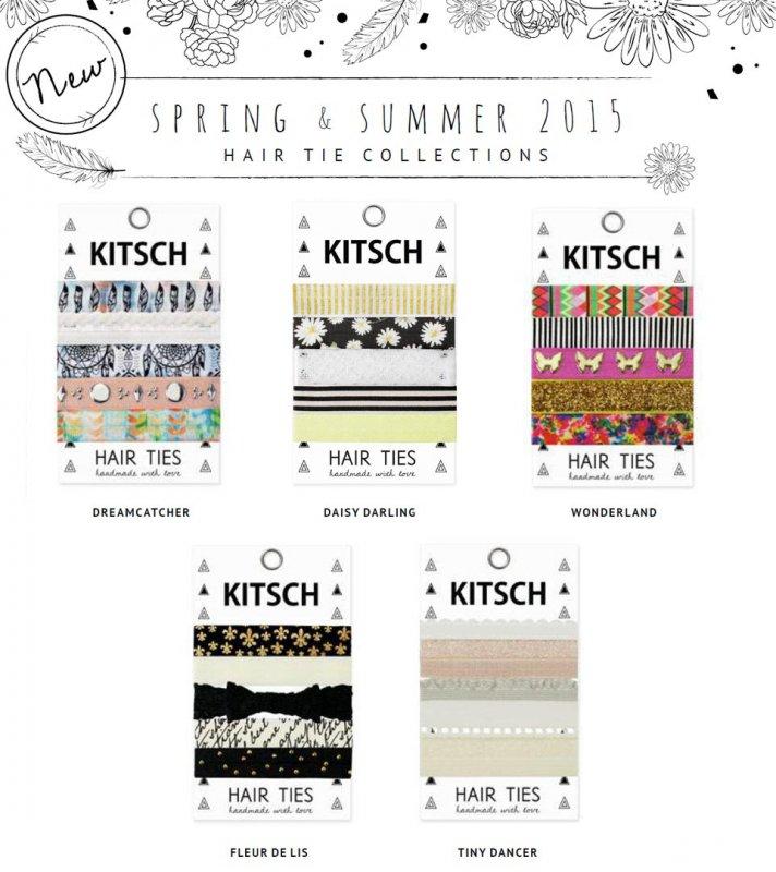 Kitsch(キッチュ)2015年春夏新作ヘアアクセサリー5本セット/ヘアゴム/ブレスレット/Hair Ties