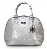 ラウンジフライ(Loungefly)アナと雪の女王グリッターバッグ/エルサ雪の結晶キーリング付きハンドバッグ