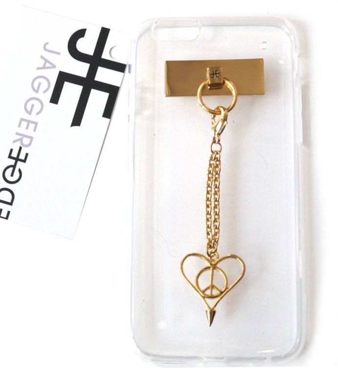【iPhone6ケース】ジャガーエッジ(Jagger Edge)Love&Peaceチャーム付きiPhone6ケース/HOW CHARMING PEACE N LOVE CHA…
