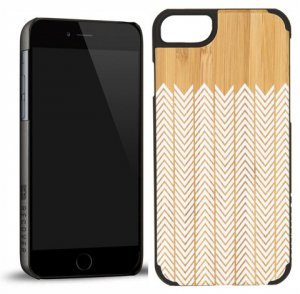 RECOVER (リカバー)ウッドiPhone6ケース/アイフォン6カバー(ホワイトフェザーバンブー)<img class='new_mark_img2' src='https://img.shop-pro.jp/img/new/icons16.gif' style='border:none;display:inline;margin:0px;padding:0px;width:auto;' />