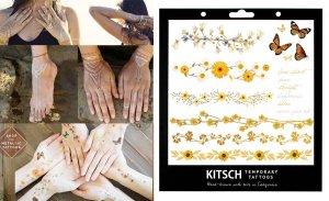 フラッシュタトゥー/Kitsch(キッチュ)タトゥーシール/テンポラリータトゥー/フラワーバタフライ/Flower Metallic Tattoo Set 1<img class='new_mark_img2' src='https://img.shop-pro.jp/img/new/icons16.gif' style='border:none;display:inline;margin:0px;padding:0px;width:auto;' />